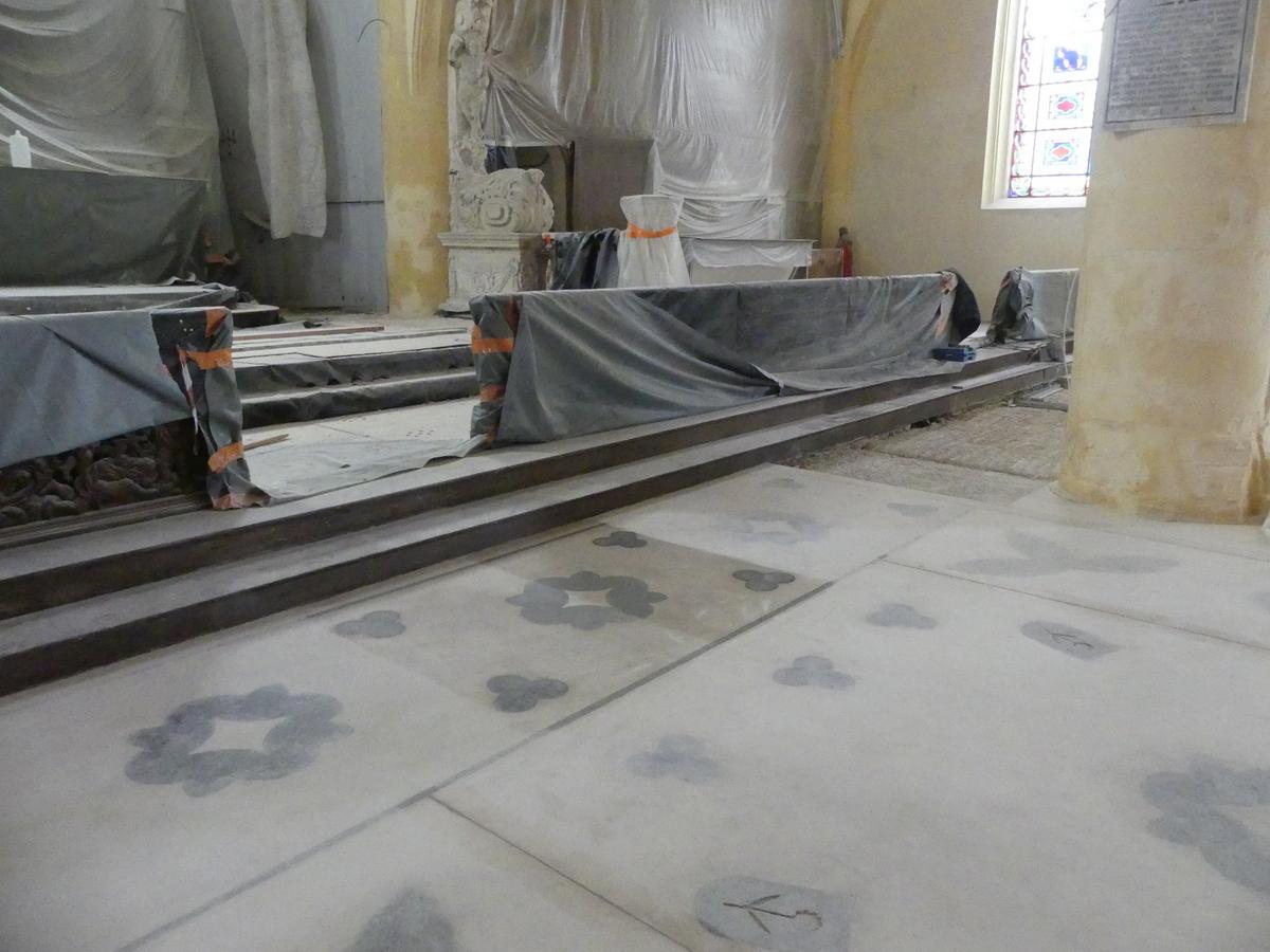 Ars - Travaux église - Nef centrale - 30 octobre 2019