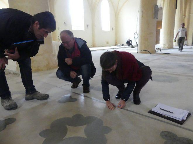 Ars - Eglise - Essais de traitement sols décorés - 30 octobre 2019
