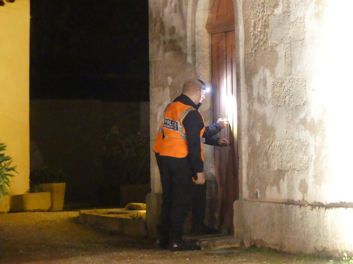 Loix - Eglise - Police municipale - Exercice submersion - 27 novembre 2019