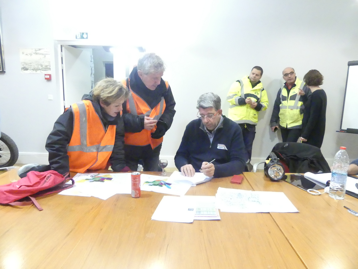 Loix - Exercice submersion - Référents quartiers - 27 novembre 2019
