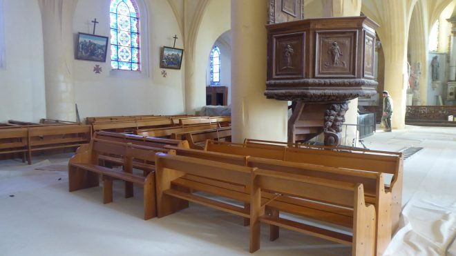Ars - Eglise - Réinstallation bancs - 4 décembre 2019
