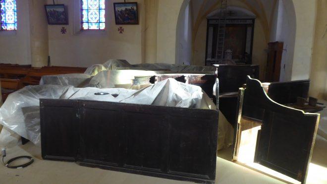 Ars - Eglise - Stales avant rénovation - 4 décembre 2019