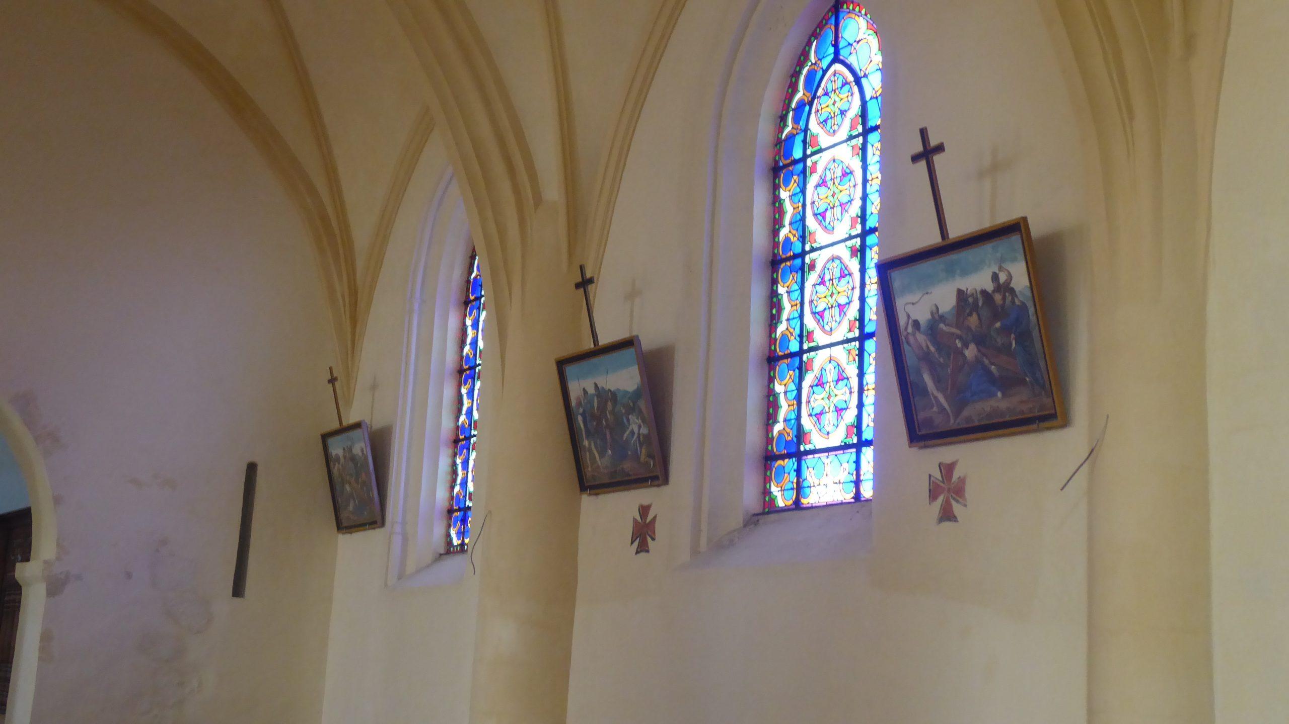 Ars - Eglise - Vitraux - 4 décembre 2019