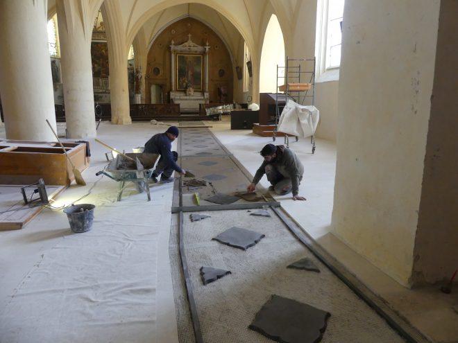 Ars - Eglise - Sol - Tapis chaux - 11 décembre 2019