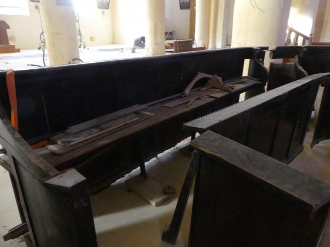 Ars - Eglise - Stales avant rénovation - 11 décembre 2019