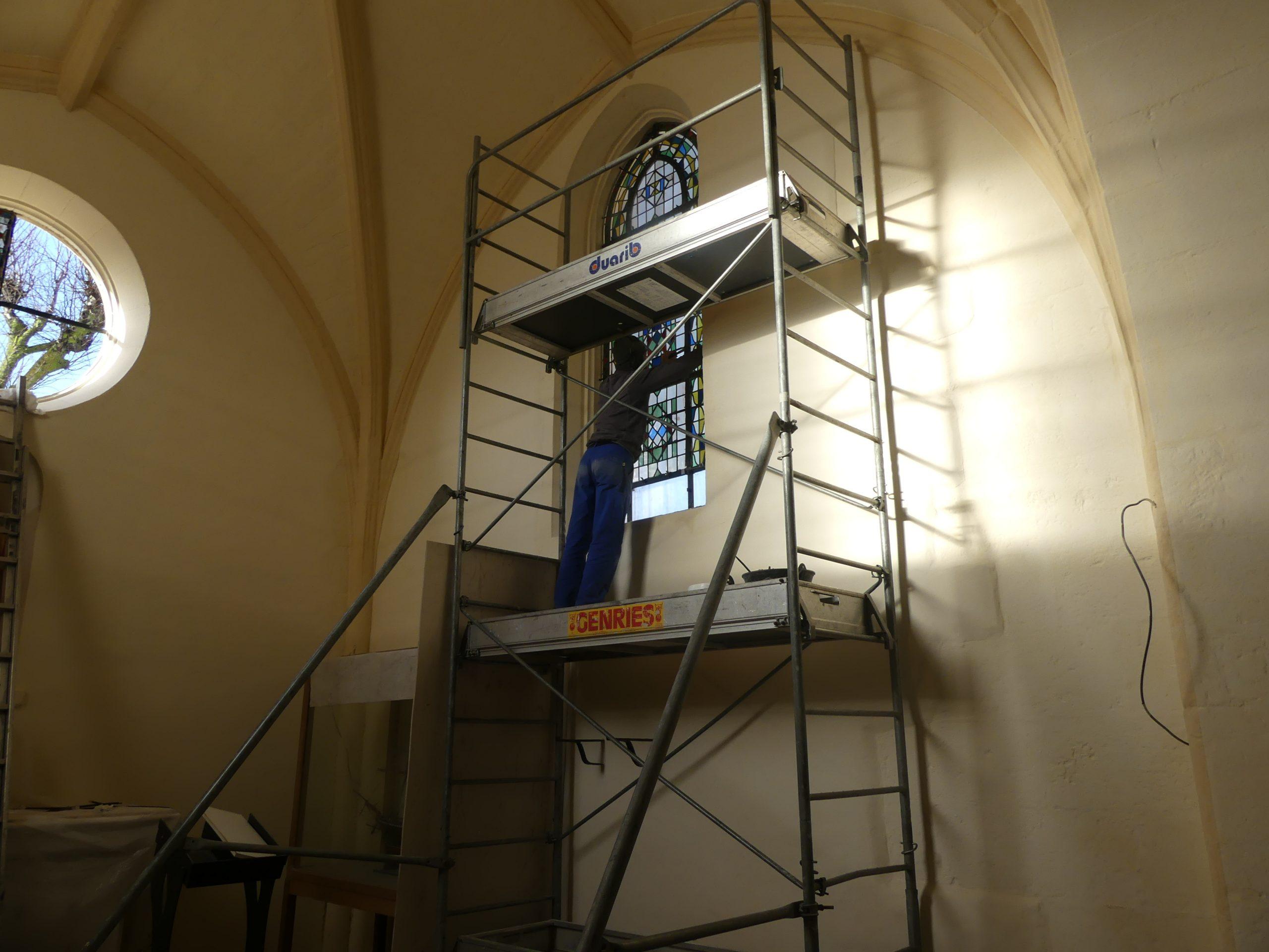 Ars - Eglise - Vitraux - 11 décembre 2019