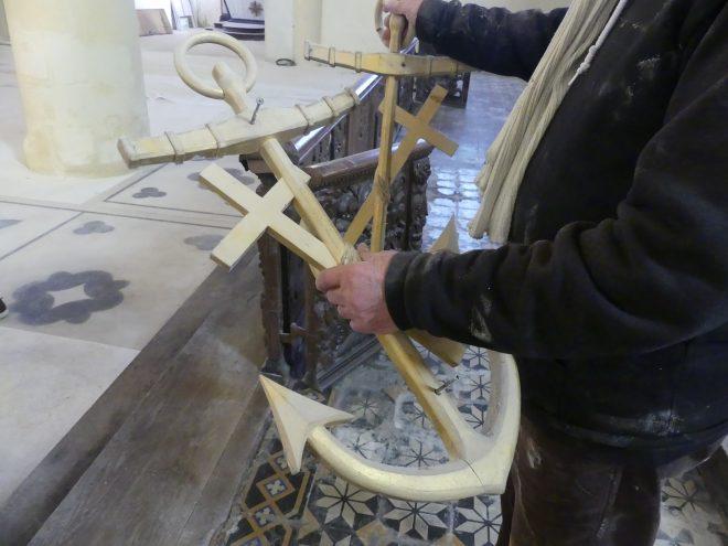 Ars - Eglise - Remise en état pierres tombales et petits objets - 3 février 2020