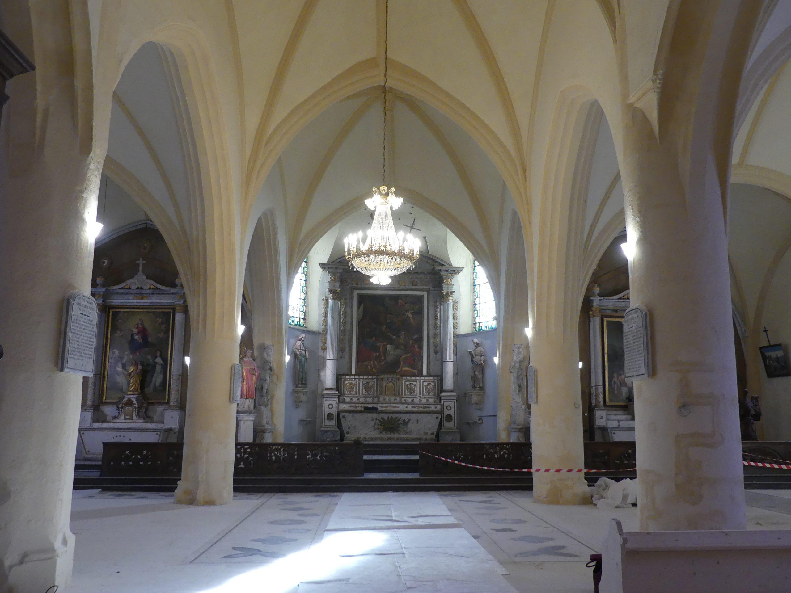 Ars - Travaux église - Intérieur - 3 février 2020