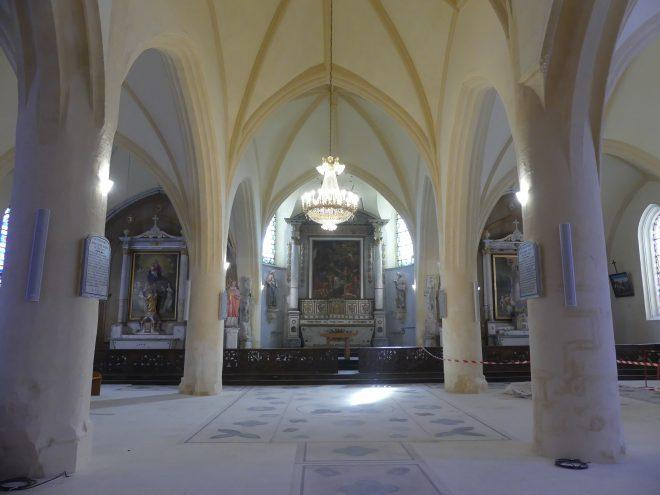 Ars - Travaux église - Intérieur - 9 mars 2020