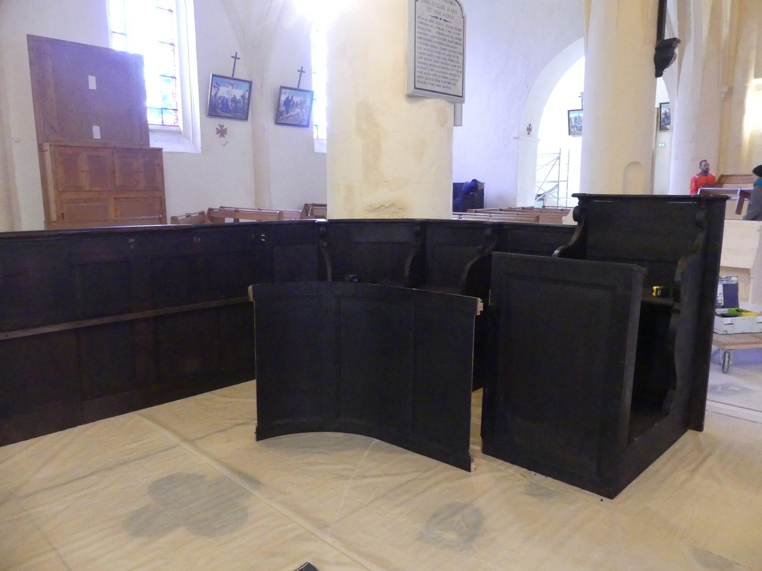 Ars - Eglise - Stales rénovées - 12 mars 2020