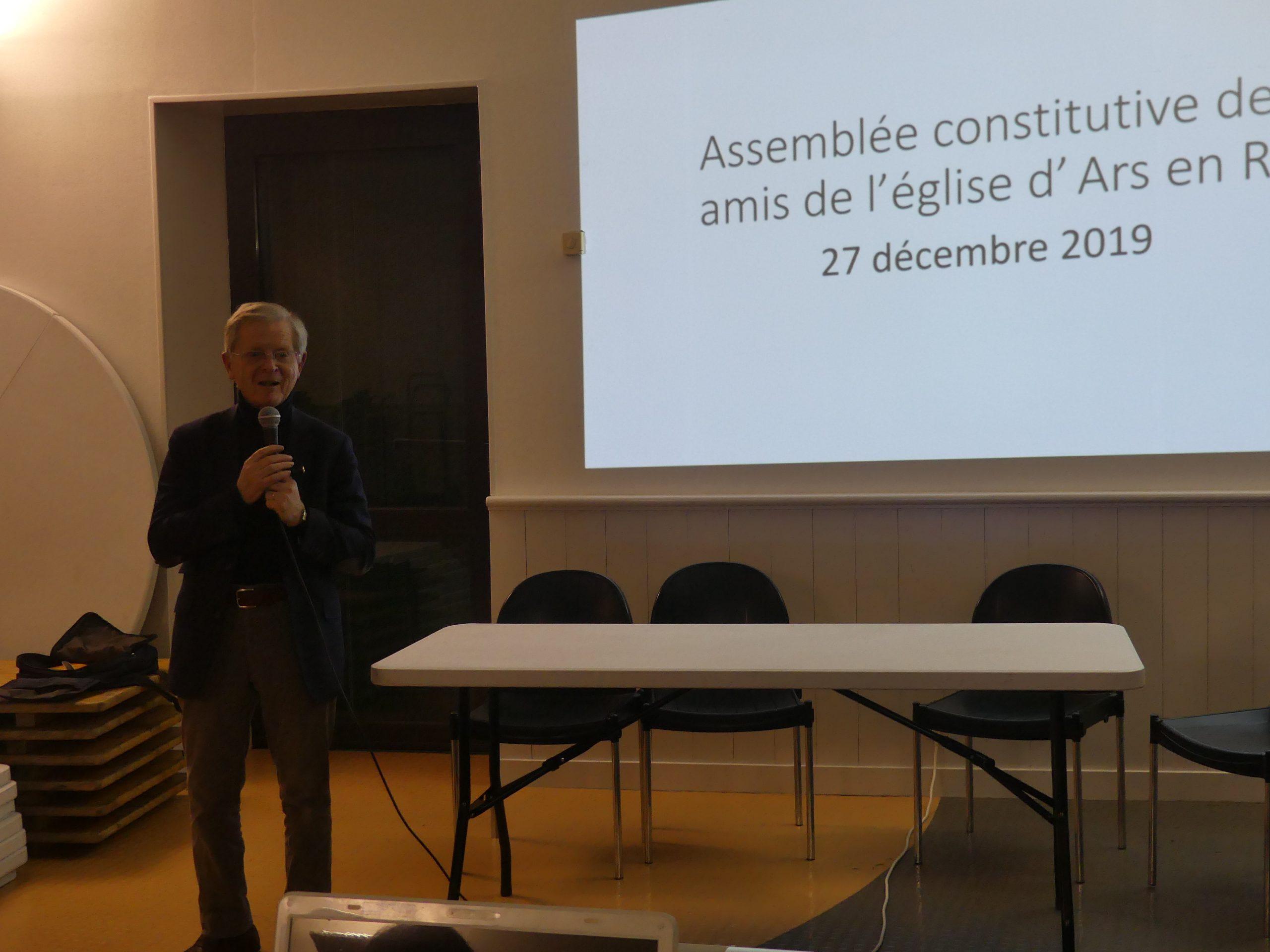 Ars - Jérôme Vignon Président des Amis de l'église - 27 décembre 2019