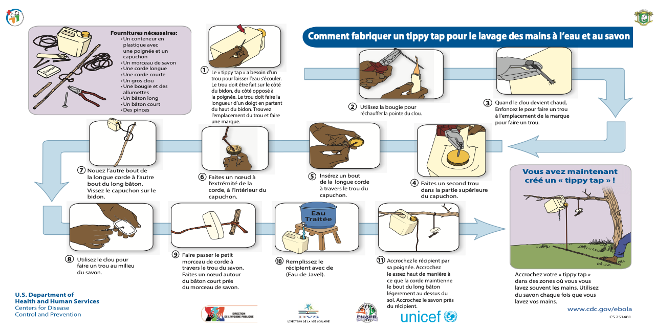 Tippy Tap - Notice fabrication Unicef