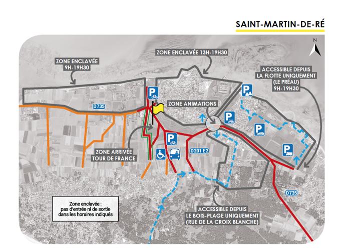 Ile de Ré - Tour de France - Préparatifs Saint-Martin - 2 septembre 2020