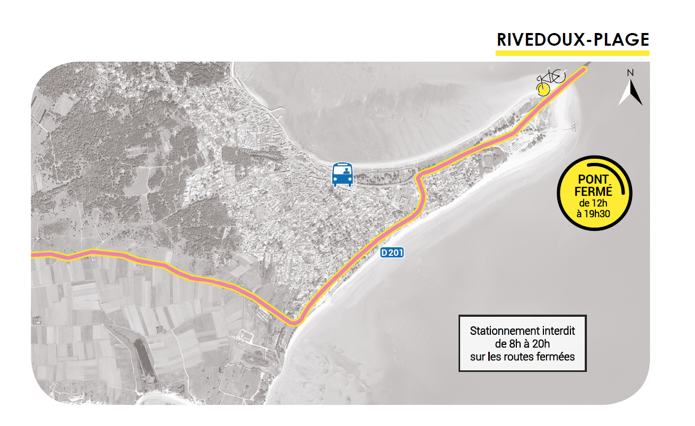 Ile de Ré - Tour de France - Routes empruntées - Septembre 2020