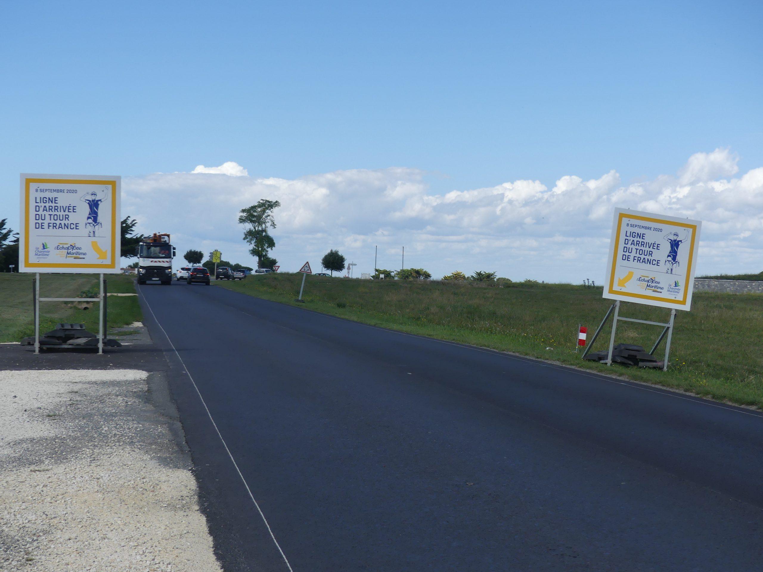Saint-Martin de Ré - Ligne arrivée Tour de France - 1er septembre 2020