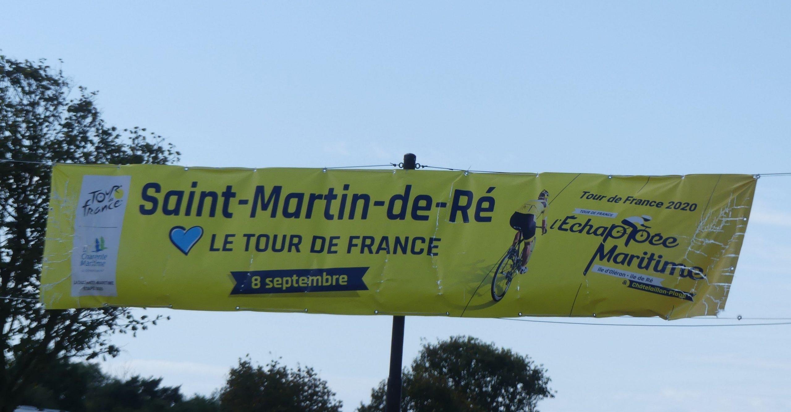 Saint-Martin de Ré - Rond point arrivée Tour de France - 1er septembre 2020