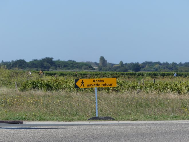 Ile de Ré - Tour de France - Panneau navette - 2 septembre 2020