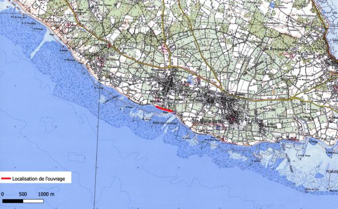 Sainte-Marie de Ré - Montamer - Localisation digue - octobre 2020