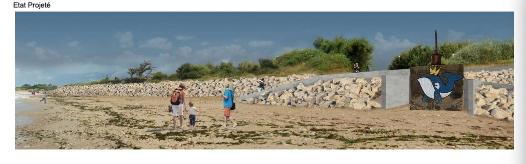 Sainte-Marie de Ré - Montamer - Future digue - Accès 3 - Octobre 2020