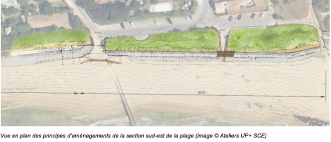 Sainte-Marie de ré - Montamer - Plan future digue - Octobre 2020