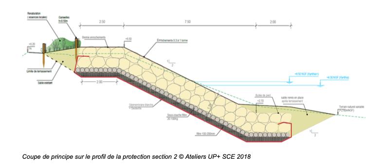 Sainte-Marie de Ré - Montamer - Future digue - Plan coupe - Octobre 2020