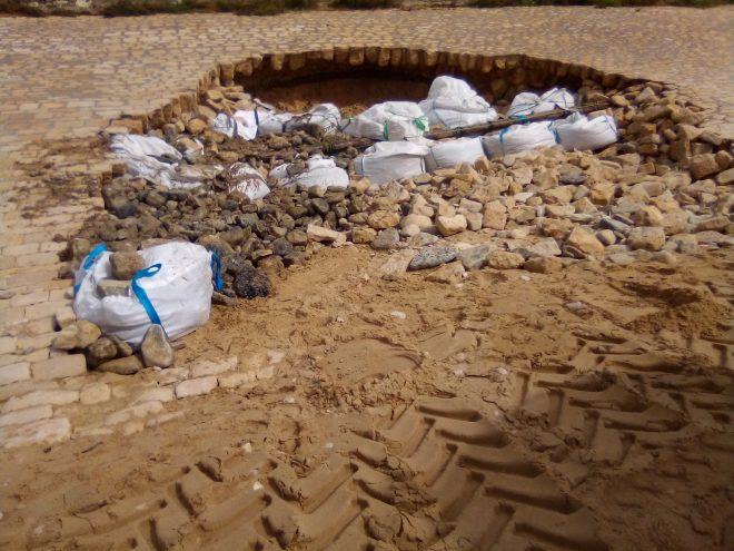 Ars-en-Ré - Digue cassée - Big bags - 6 octobre 2020