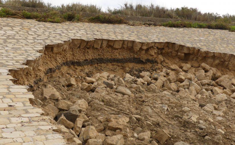 Fragilité de la digue patrimoniale de Beauregard à Ars-en-Ré