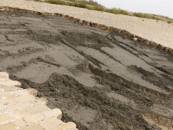 Ars-en-Ré - Réparation digue cassée - 6 octobre 2020