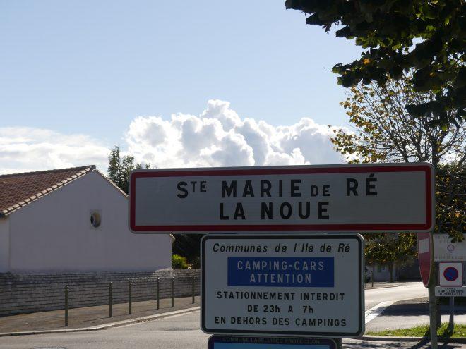 Sainte-marie de ré - Panneau village - 23 octobre 2020