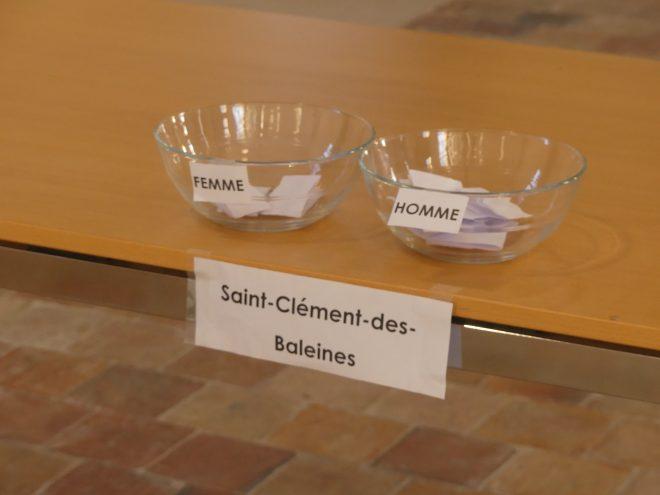 Tirage au sort Schéma de développement durable - Saint-Clément des Baleines- 20 novembre 2020