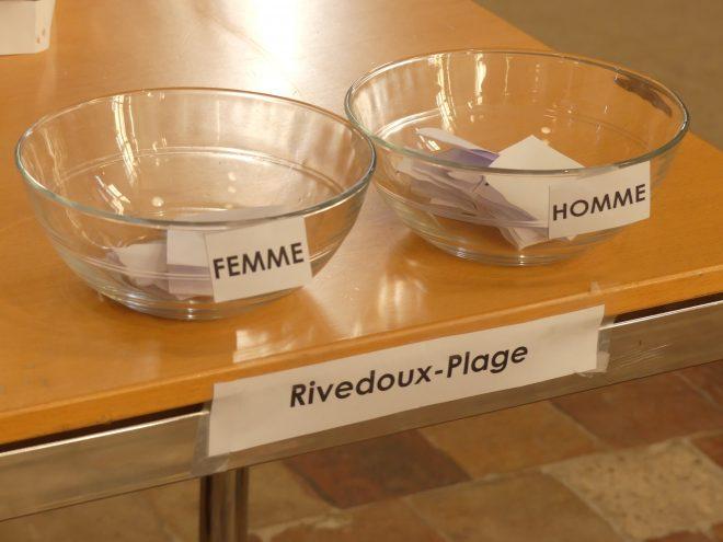 Tirage au sort Schéma de développement durable - Rivedoux - 20 novembre 2020