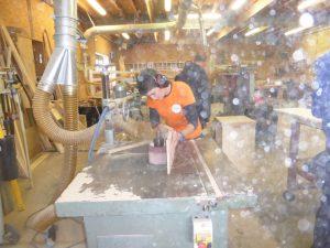 Fabrication de la boguette, outil du saunier