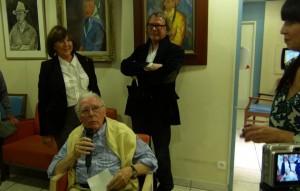 Claude Suire et ses enfants, Anne et Olivier.