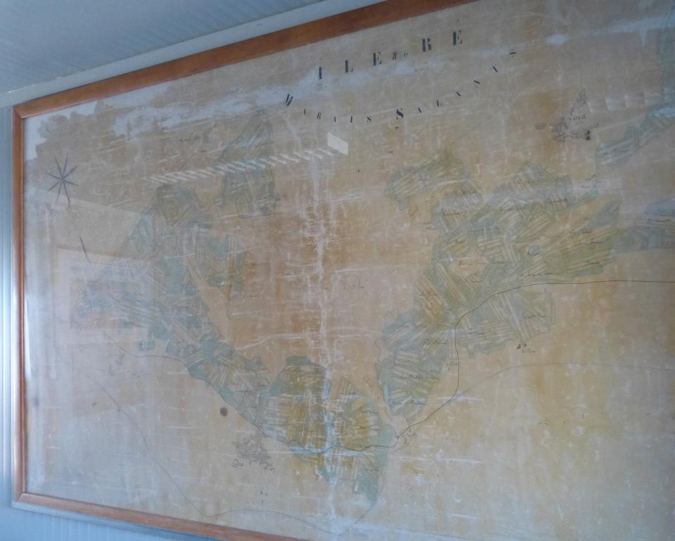 Carte des marais de l'île de Ré - 1913