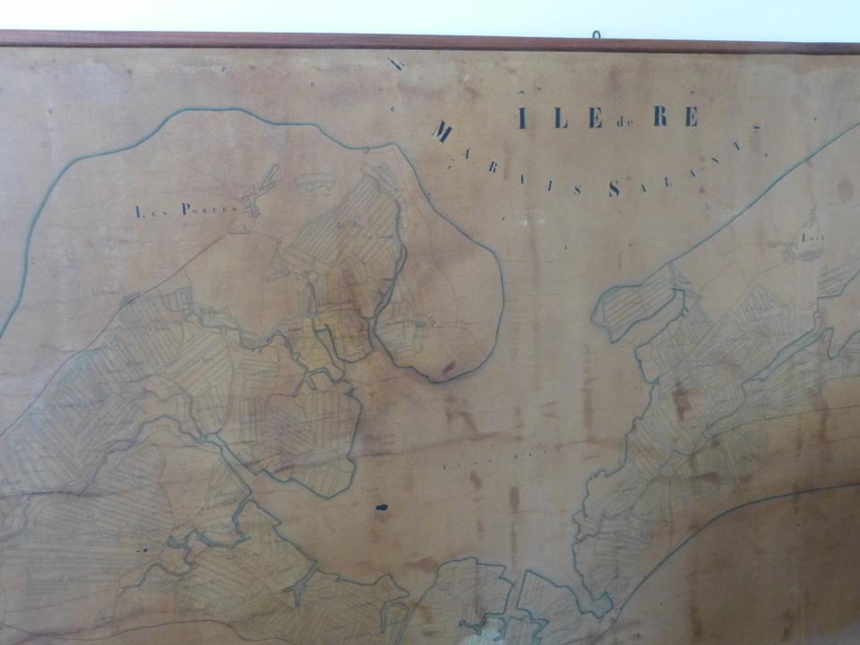 Carte des marais de l'île de Ré - 1907