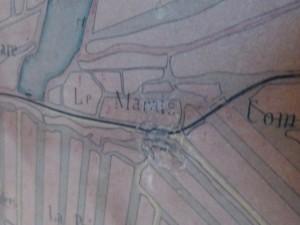 Réparation carte marais de l'île de Ré - 1907