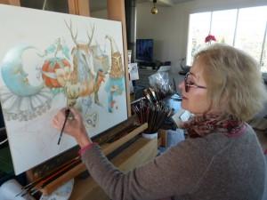 Agnès Boulloche - Atelier décembre 2013
