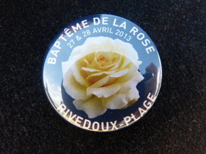 Badge baptême de la rose