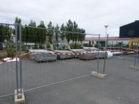Coopérative de sel - Stockage de plaques d'amiante avant recyclage.