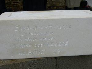 1ère pierre aux Brises Marines, Ars-en-Ré