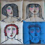 Katherine Margaritis, une artiste et 20 coussins
