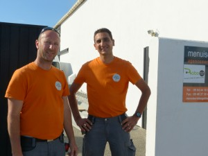 Olivier Bornet et Freddy Faria de Abreu, gérants associés de la Menuiserie Les gâtines