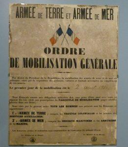 Ordre de mobilisation générale - 2 août 1914