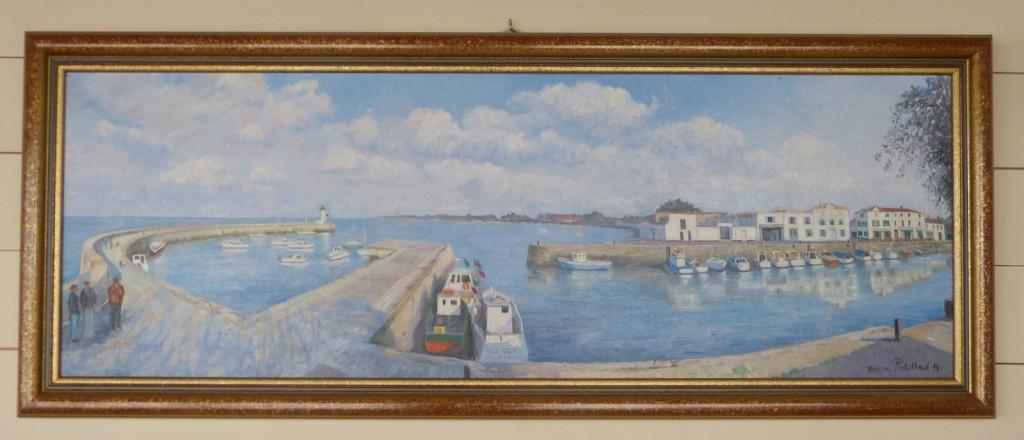 Tableau du port de la Flotte dans le bureau du maire, Léon Gendre