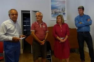Membres de l'APSL et Lionel Quillet, maire de Loix