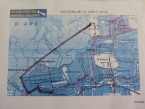 Parcours Gros Sel-athlon - Loix - 23 août 2014