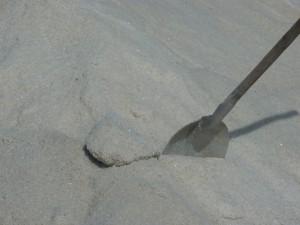 Récolte de gros sel