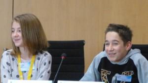 Noélie et Tom, vice-présidents du Conse'il général jeunes - Mandature 2014-2016