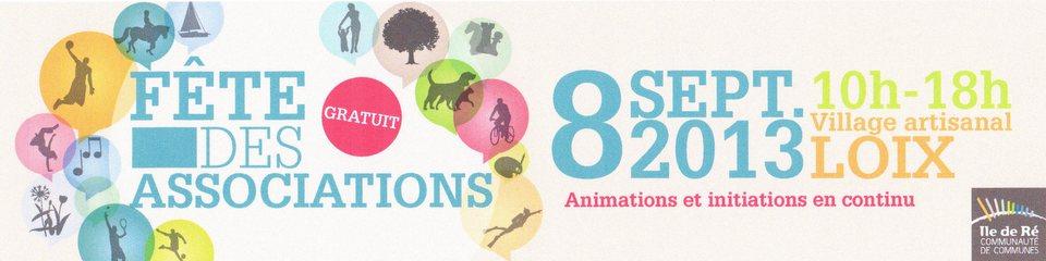 Fête des associations - Loix - 9 septembre 2013
