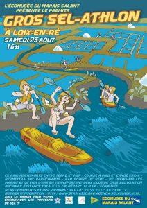 Affiche Gros Sel-athlon - Loix - 23 août 2014